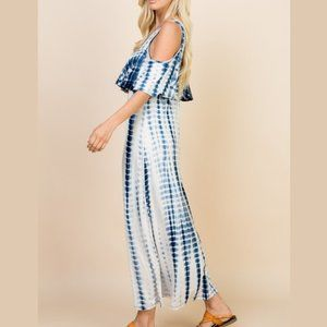 Be Stage Dresses - Tie Dye Ruffle Maxi Dress